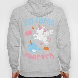 Cute Kawaii Narwhal Unicorn Bff Best Friends Forever Shirt Hoody