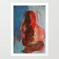 different - Original Painting by carina schubert Art Print