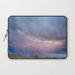 March Lightning Over Cave Creek Arizona Laptop Sleeve