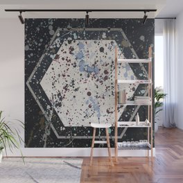 Attraction - hexagon graphic Wall Mural