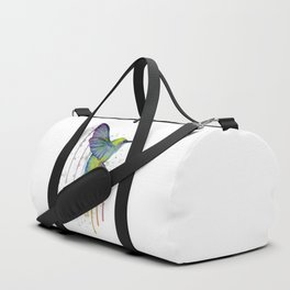 Hummingbird Watercolor Duffle Bag