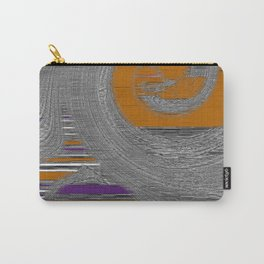 Swirling Abstract In Gray Purple Rust Carry-All Pouch
