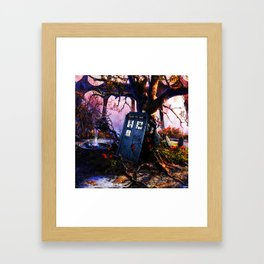 Tardis And Rose Framed Art Print
