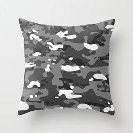 Military Camouflage: Urban II Throw Pillow