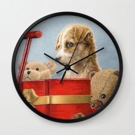 What Santa Left One Year Wall Clock