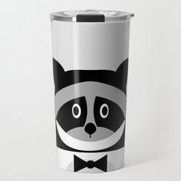 Racoon Bw Travel Mug