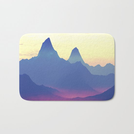 Mountains of Another World Bath Mat