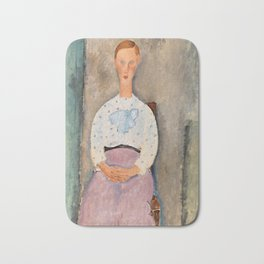 "Amedeo Modigliani ""Girl with a Polka-Dot Blouse (Jeune fille au corsage à pois)"" Bath Mat"