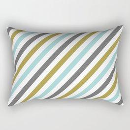 Mint color Diagonal stripe Rectangular Pillow