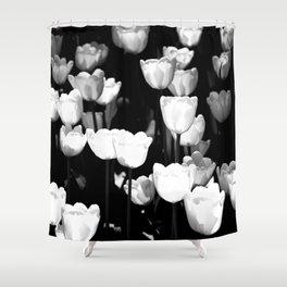 Sunlit White Tulips Shower Curtain