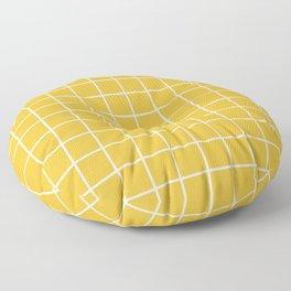 Grid Pattern Mustard Yellow 2 Floor Pillow
