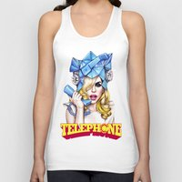 telephone Tank Tops featuring Telephone by Denda Reloaded
