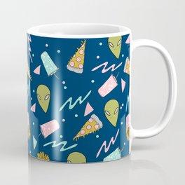 Alien outer space cute aliens french fries rad sodas pattern print Coffee Mug