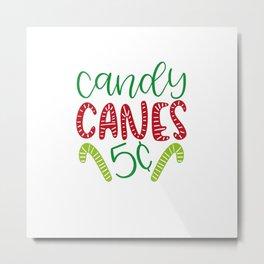 Candy canes part shirt Metal Print