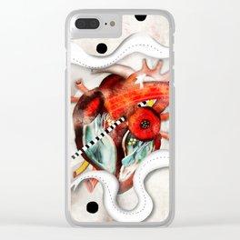 Sagado Corazón Clear iPhone Case