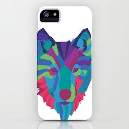 Neon Wolf iPhone Case