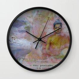 Buddha Collage - JUSTART (c) Wall Clock