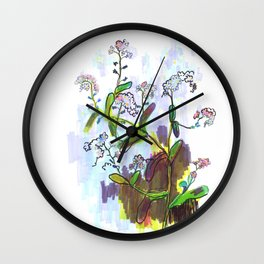 "Original Flower print ""Forget Me Not"" Wall Clock"