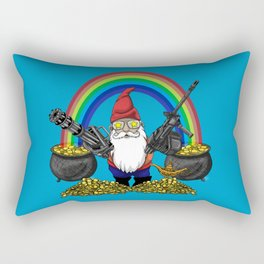 Gnome Guns Rectangular Pillow