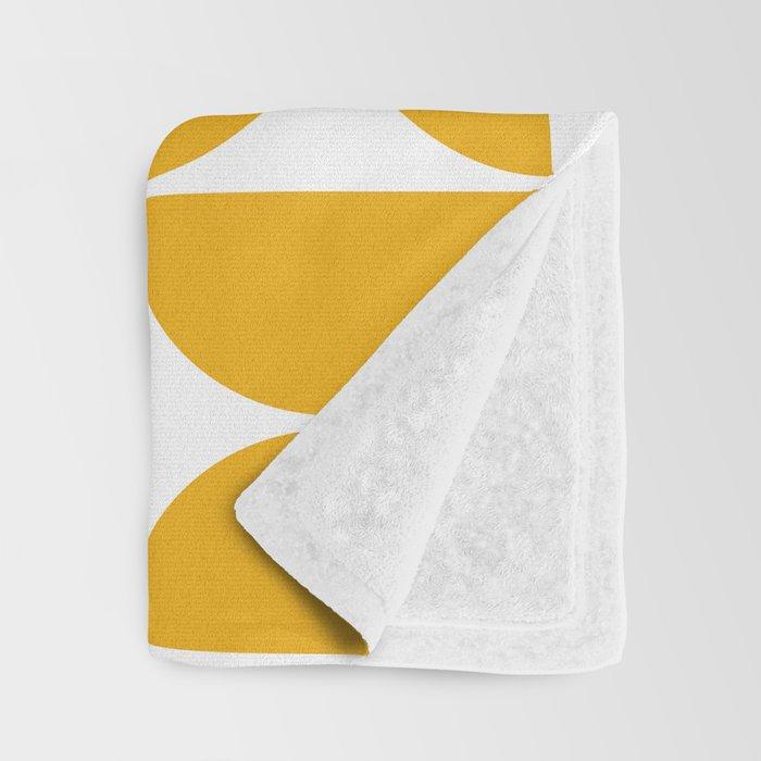 Mid Century Modern Geometric 04 Yellow Throw Blanket