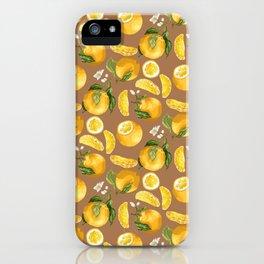 Juicy Citrus Pattern with Fresh Oranges iPhone Case