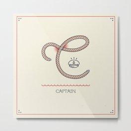 Ahoy! Letter C Metal Print