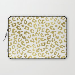 Glam Gold Cheetah Animal Print Laptop Sleeve