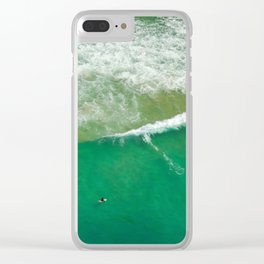 Surfing Day V Clear iPhone Case