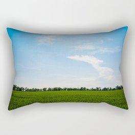 Blue over green Rectangular Pillow