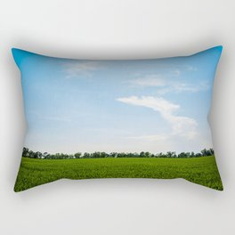 Blue over green Rectangular Pillow
