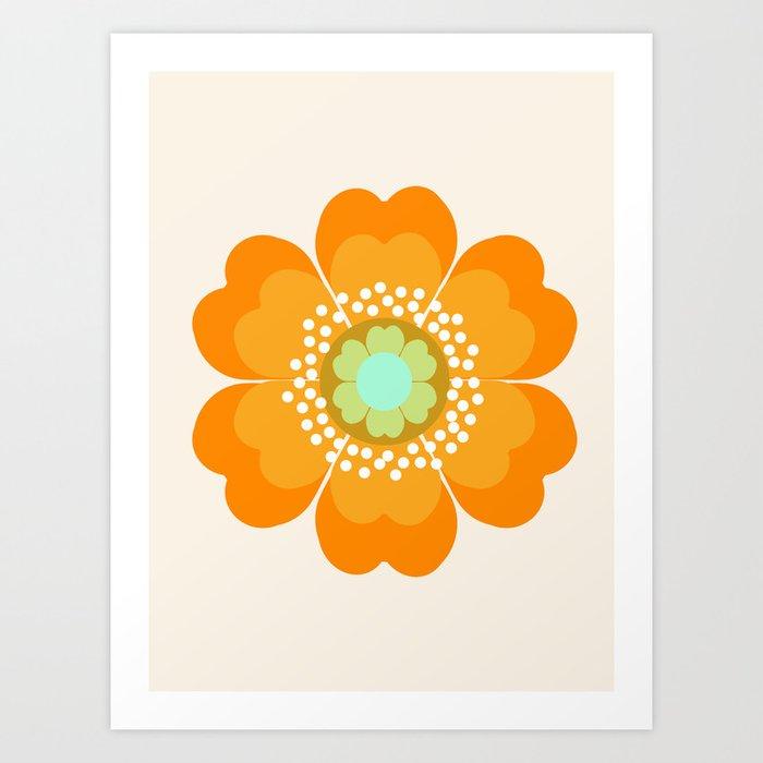 Jivin' - 70's retro throwback art floral flower motif decor hipster Kunstdrucke