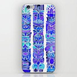 Tiki Totems – Indigo Palette iPhone Skin