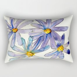Dainty Purple Daisies Watercolour Rectangular Pillow