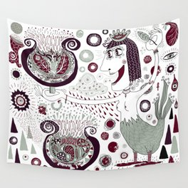 The Bird Lady Cometh Wall Tapestry