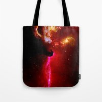 universe Tote Bags featuring Universe by Fine2art