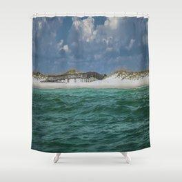 Boardwalk At Shell Island  Shower Curtain