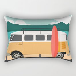 Road Trip on Van Rectangular Pillow
