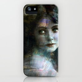 Vintage Woman Pop With Modern Highlights Sepia Vertical iPhone Case