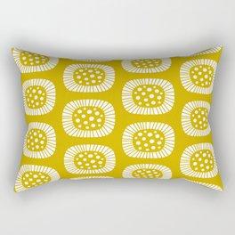 Mid Century Modern Atomic Sunburst Mustard Yellow Rectangular Pillow
