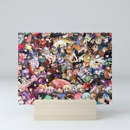 Anime School Girls Mini Art Print