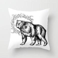Bear Queen Throw Pillow