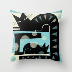 SQUARE TAILS Throw Pillow