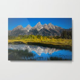 Grand Teton - Reflection at Schwabacher's Landing Metal Print