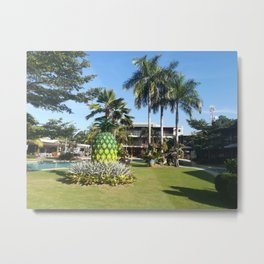 pineapple at the center of garden Metal Print