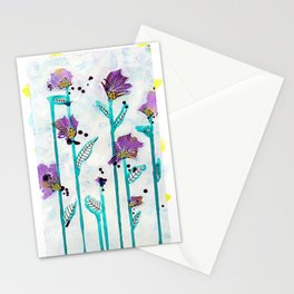 Leggy Purple Stationery Cards