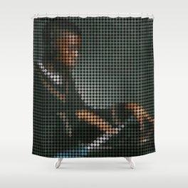 Pablo Dot Art Shower Curtain