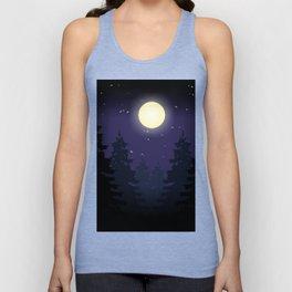 Forest On Moonlit Night #society6 #decor #buyart #artprint Unisex Tank Top