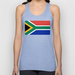 Flag of South Africa, Authentic color & scale Unisex Tank Top