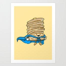 Captain Pancake Descends Art Print