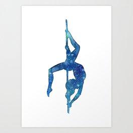 Pole dancer underwater Art Print